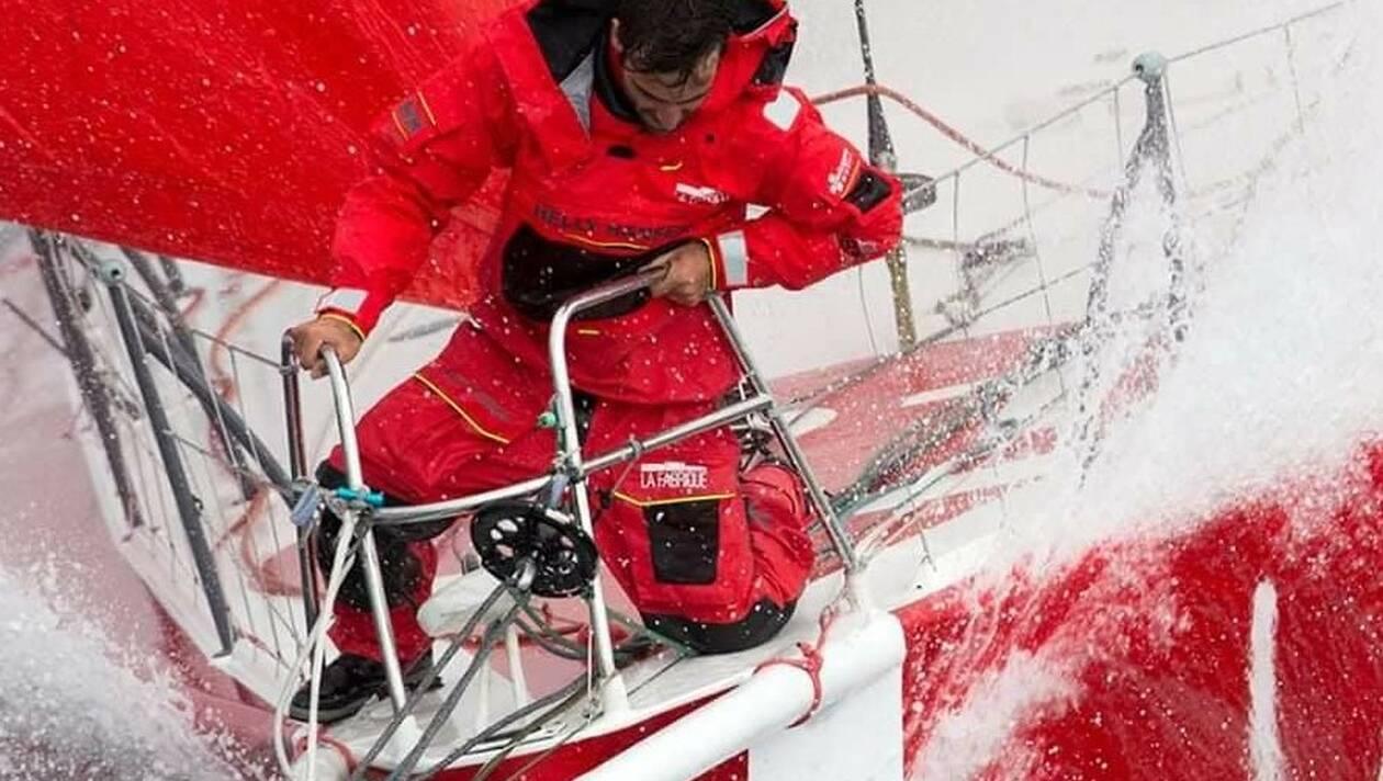 Sur son plan Finot doté de nouveaux foils , Alan Roura a traversé l'Atlantique Nord à une moyenne de 15,57 nœuds.