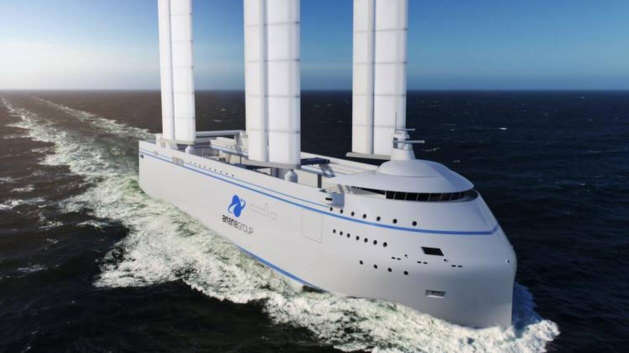 Esquisse du futur navire qui sera mis à l'eau début 2022.