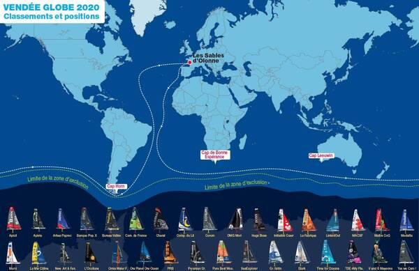 Classements et positions des skippers du Vendée Globe sont à retrouver sur ouest-france.fr.