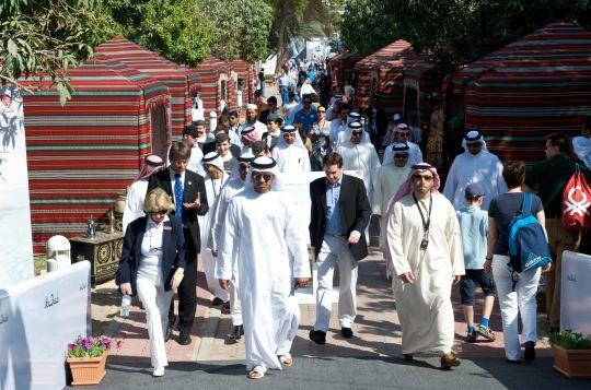 Le village de la course à Abu Dhabi