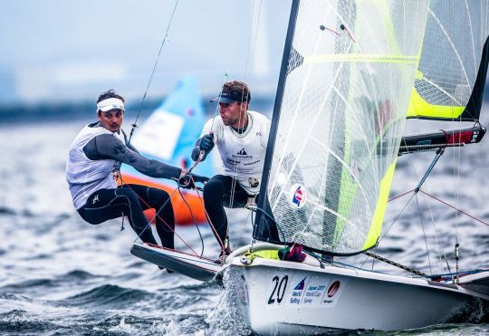 Equipage masculin en 49er © Sailing Energy