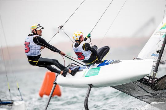 Les équipiers au trapèze © Sailing Energy