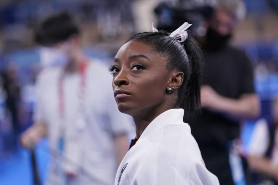 La gymnaste Simone Biles