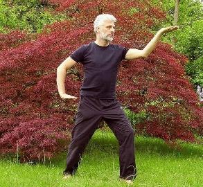 Une image contenant herbe, extérieur, arbre, homme  Description générée automatiquement