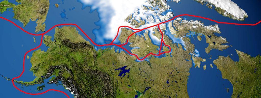 Les routes les plus fréquentées du Passage du Nord-Ouest à travers l'archipel canadien